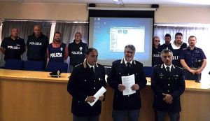 La conferenza stampa in questura a Frosinone
